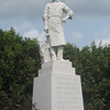 """This statue is at the corner of Main and Maple Streets in Barre, Vermont. """"In Honor of all Italian-Americans whose achievements have enriched the social, cultural and civic vitality of this city, region and state."""""""