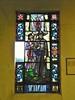 Priest stained glass window