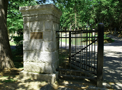 Gates at Sleepy Hollow Cemetery in Concord