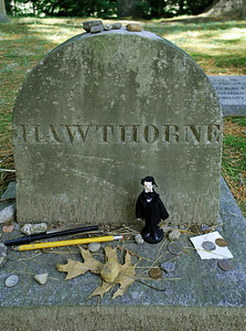 Mini-Nate at his gravesite in Sleepy Hollow Cemetery