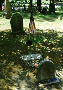Gravesite of Louisa May Alcott in Sleepy Hollow Cemetery