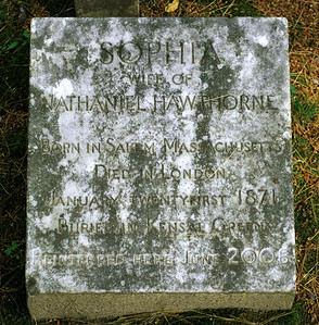 Gravemarker of Sophia Hawthorne in Sleepy Hollow Cemetery