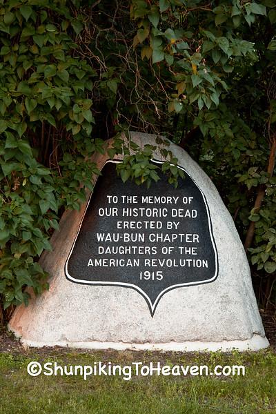 War Memorial, Old Fort Winnebago Cemetery, Columbia County, Wisconsin