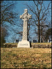 There are a large variety of crosses to be found, this one, Clarke, is found in Mt Washington Cemetery, Independence, Missouri.  I'm guessing a Celtic cross.  Dec. 9, 2001
