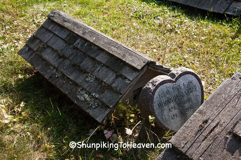 Spirit Houses, Ojibwe Burial Ground, Sawyer County, Wisconsin