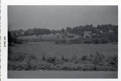 Black and White Image of the Old City Cemetery (00489)
