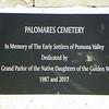 Dedication plaque - close-up