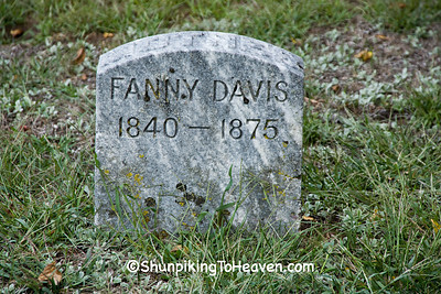 Gravestone in Pioneer Cemetery, Iowa County, Wisconsin