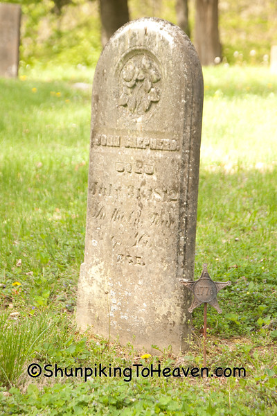 Grave of Revolutionary War Veteran, John Shepherd, Brown County, Ohio