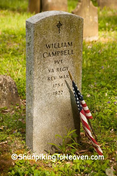 Grave of Revolutionary War Veteran, William Campbell, Brown County, Ohio