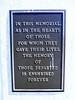 National Shrine plaque