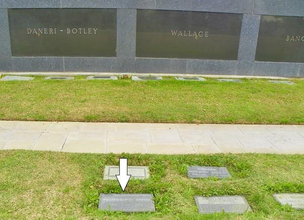 William Hopper is in Memorial Urn Garden, south of El Portal de La Paz.