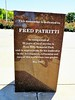 Memorial to Fred Patritti, a loyal employee.