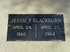 Jessie P. Blackburn<br /> April 24, 1866<br /> April 25, 1964