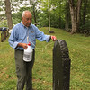 Application of D-2 by Bruce Hill, Cutter Cemetery, August 12, 2017.