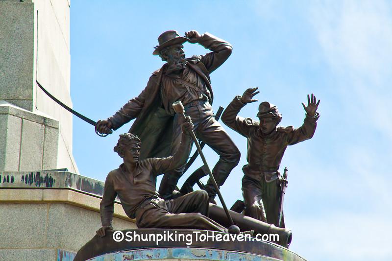 Civil War Artillery Sculpture, Springfield, Illinois