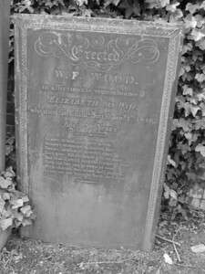 Erected by W.F. Wood for Elizabeth Wood