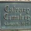 Calvary Cemetery plaque