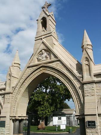 Calvary Cemetery West gates