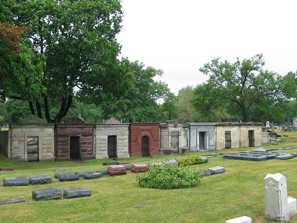 Mausoleum row