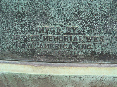 Mfgd. by Bronze Memorial Wks. of America, Inc.