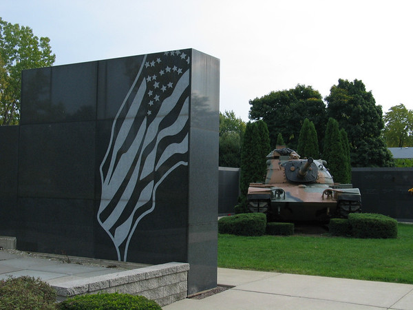 Memorial with tank