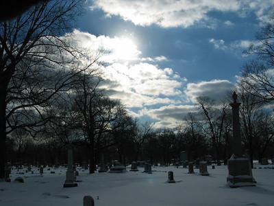 Clouds with the sun peeking through