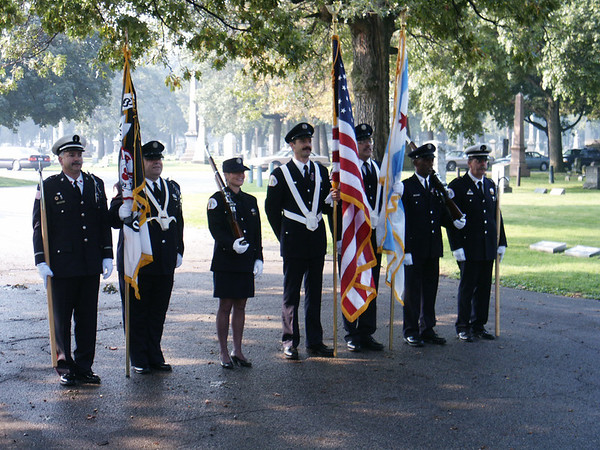 CFD Color Guard and the AFFI Honor Guard