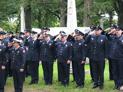 Saluting firemen
