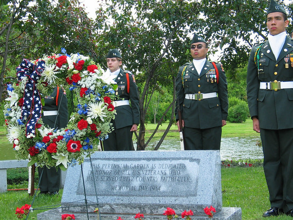 Wreath and memorial