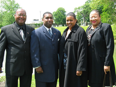 Col. Wesley E. Scott (2nd left)