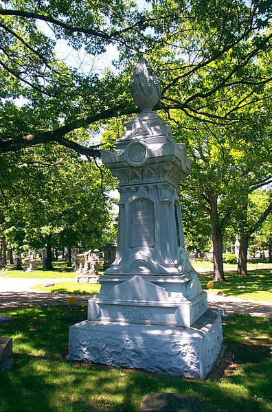 The Gates' white bronze large monument