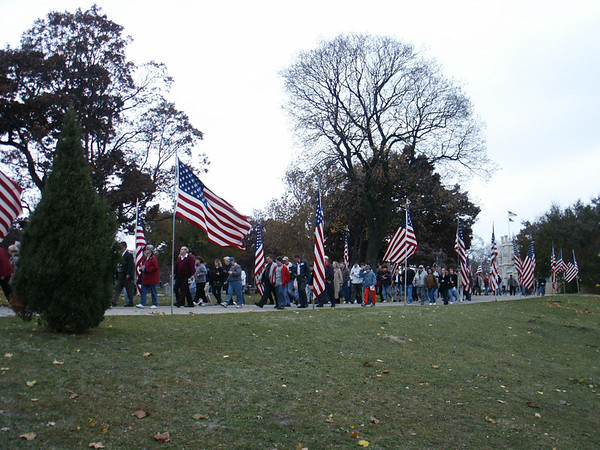 The Veterans Day procession