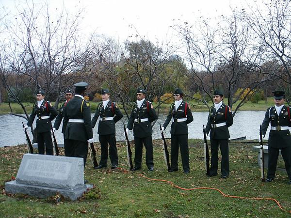 ROTC at Rosehill's Veterans Memorial Rose Garden