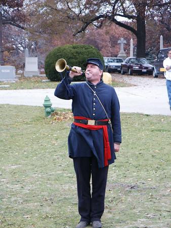 RJ Samp, bugler of Taps