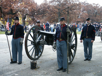 Battery A preparing for cannon salute