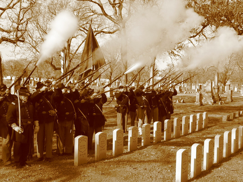 Civil War military salute