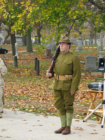 World War I Re-enactor