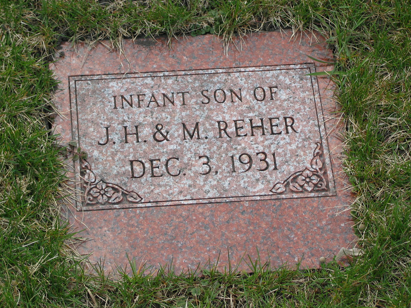 Infant Son of J.H & M. Reher