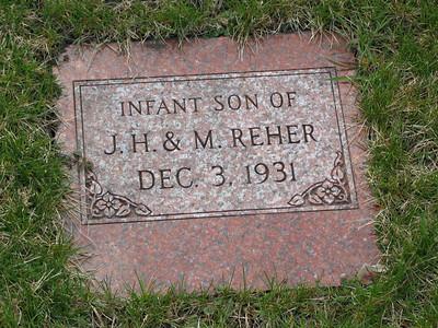 Infant Son of J.H & M. Reher