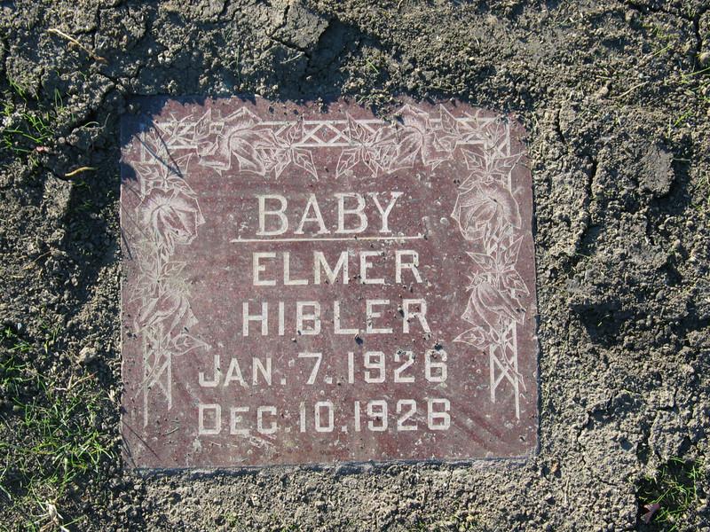 Baby Elmer Hibler (Jan 7, 1926 - Dec 10, 1926)
