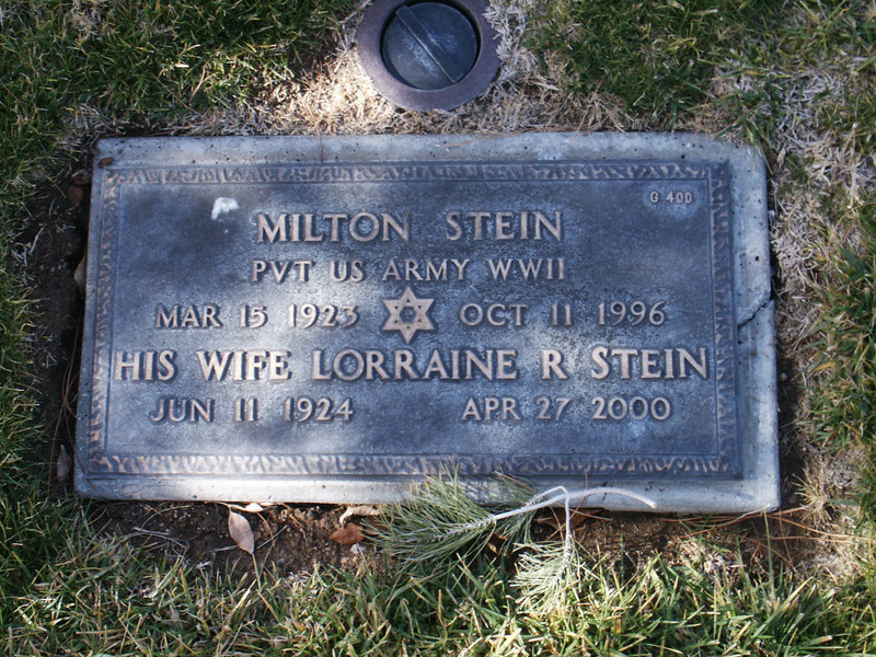 Milton Stein Pvt US Army WWII