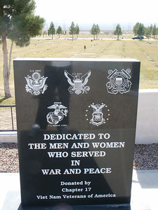 Dedicated to the Men and Women Who Served in War and Peace