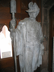 The Original Zinc Artilleryman from Civil War Soldier's Monument, Battle Hill