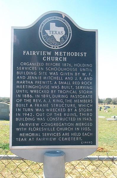 Fairview methodist Church Plaque