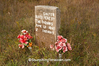 Gravestone of Indians Jo and Jim Dandy, Juneau County, Wisconsin