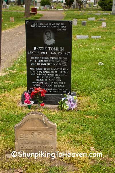 Grave of Bessie Tomlin, 1937 Flood Victim, Portsmouth, Ohio