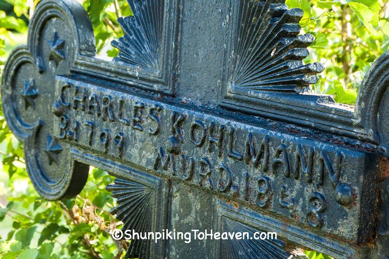 Grave Marker for Murder Victim, Dane County, Wisconsin