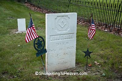 Grave of War of 1812 Veteran John Clough, Columbia County, Wisconsin