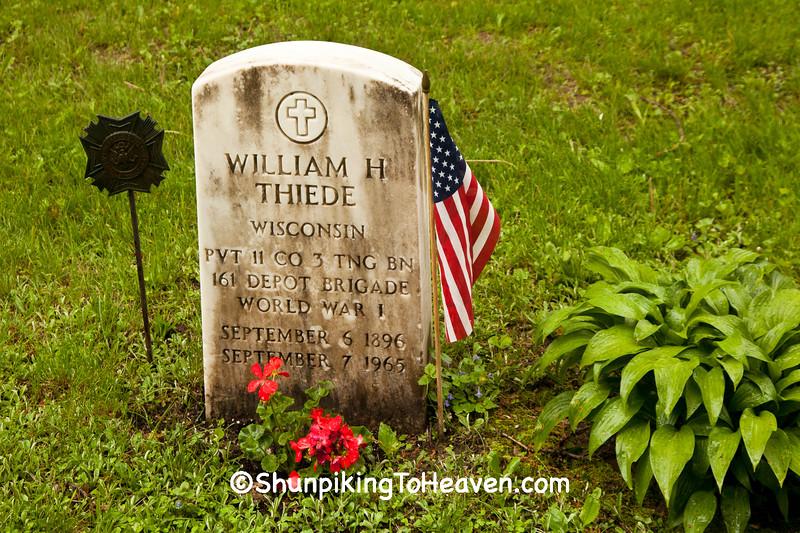 World War I Veteran's Grave, Dane County, Wisconsin